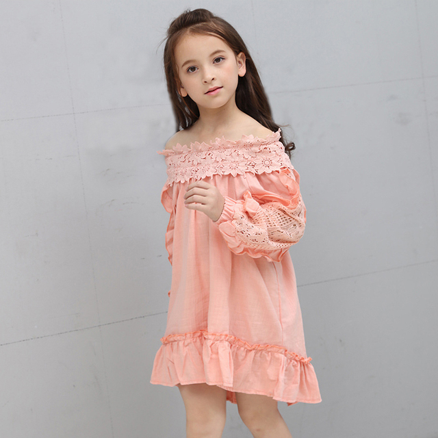 043927f6ed3 teenage girls clothing summer 2018 big girls dresses cotton clothes teen  dress size for 3 4
