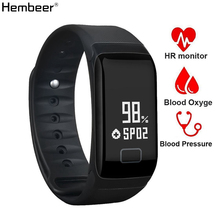 цена на F1 Smart Band Blood Pressure Oxygen Heart Rate Monitor Smart Wristband Sleep  Monitor Fitness Tracker Bracelet For iOS Android