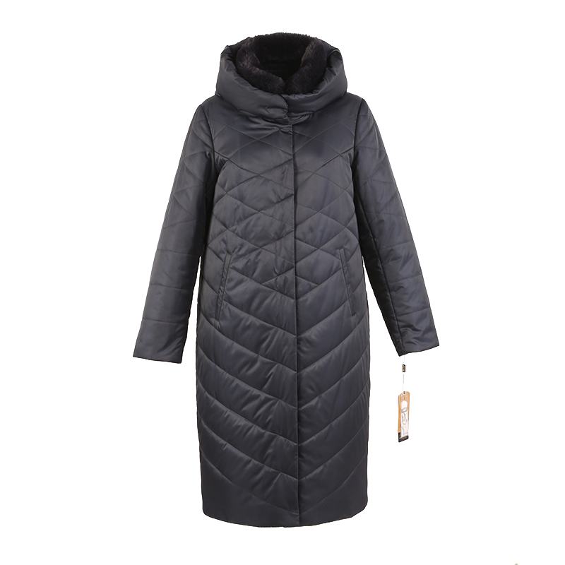 women winter long coat   parka   rabbit fur detachable collar hooded High quality material plus size 5XL 6XL 7XL 7-28369 D