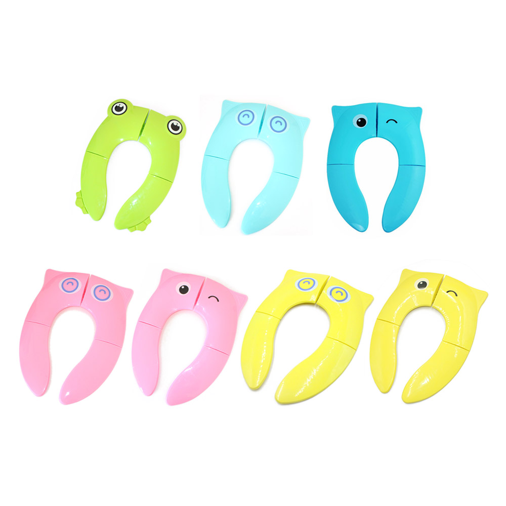 Cute Folding Potty Seat Pad Kids Travel Portable Baby Toddler Toilet Training Seat Cover Cushion Children Pot Chair Pad