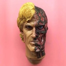 1/6 Scale Male Soldier Head Scuplt Double sided person harvey dent Carving Model Toys Hobbies Collections