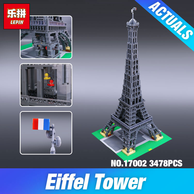 DHL LEPIN 17002 3478pcs The Eiffel Tower 10181 Toys Model Building set Blocks Brick Children Toys Educational Christmas Gifts