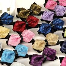 20 style summer men's neckwear neck self gold bow t