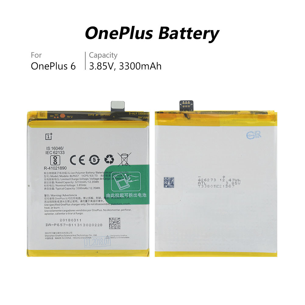 US $10 38 42% OFF|2019 Rechargeable Lipo BLP657 Battery BLP 657 BLP 657 For  OnePlus 6 One Plus Six Replacement Genuine Original-in Mobile Phone