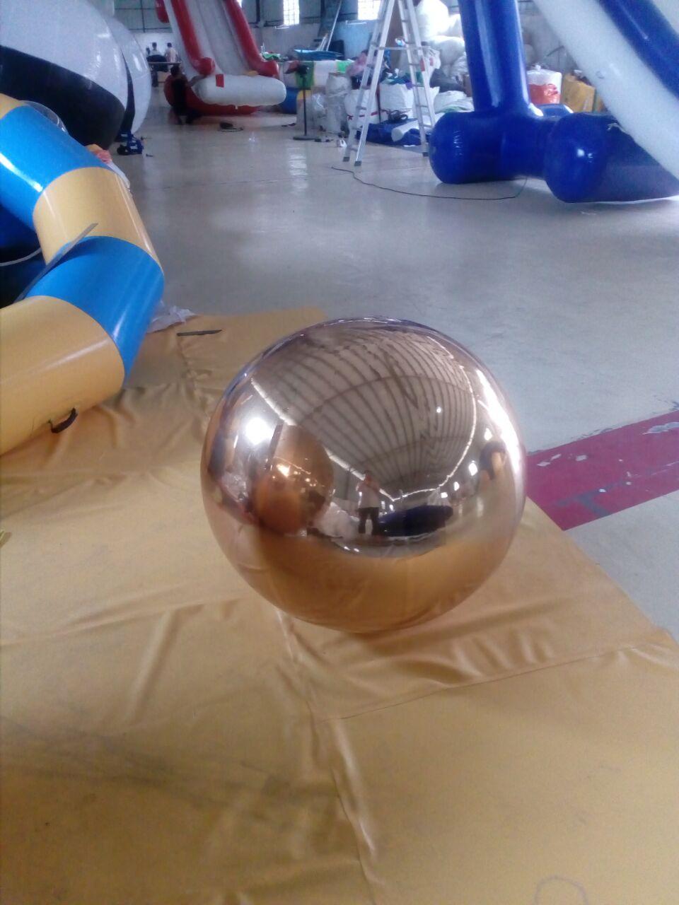 HOT Ballon Gonflable 1.5m Qızıl Dekorasiya Şişmə Güzgü Topu - Açıq havada əyləncə və idman - Fotoqrafiya 3