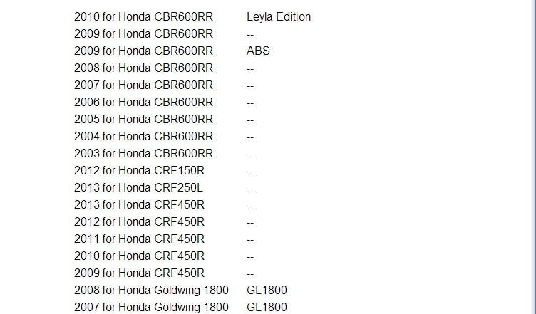 Инструмент OBD для впрыск топлива для мотоциклы Honda Поддержка мульти-языки, используемые на ноутбуке или Нетбуки