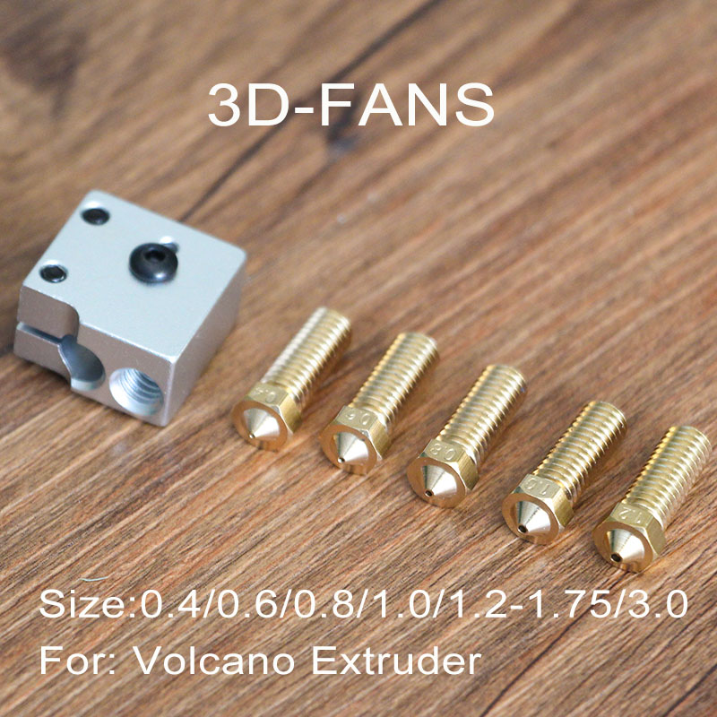 Parts & Accessories 1 Volcano Mouth Nozzle 3d Printer 0.6mm 0.8mm 1mm 1.2mm For 1.75mm 3mm Filament Attractive Appearance Computers/tablets & Networking