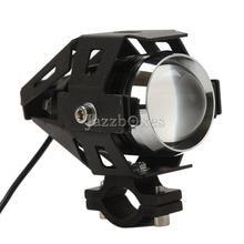 Negro U5 Motocicleta Virutas DEL CREE LED Luz de Conducción Libre de Óxido De Aluminio Para Honda Yamaha Suzuki Kawasaki BMW Motos de cross KTM