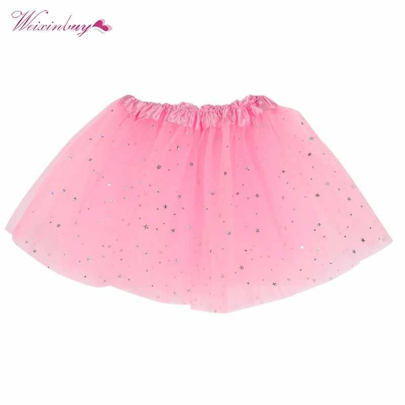 a40daa853f95 WEIXINBUY Lovely Baby Kids Girls Skirt Dancewear Tutu Full Pettiskirt  Princess Aequined Skirts Y07