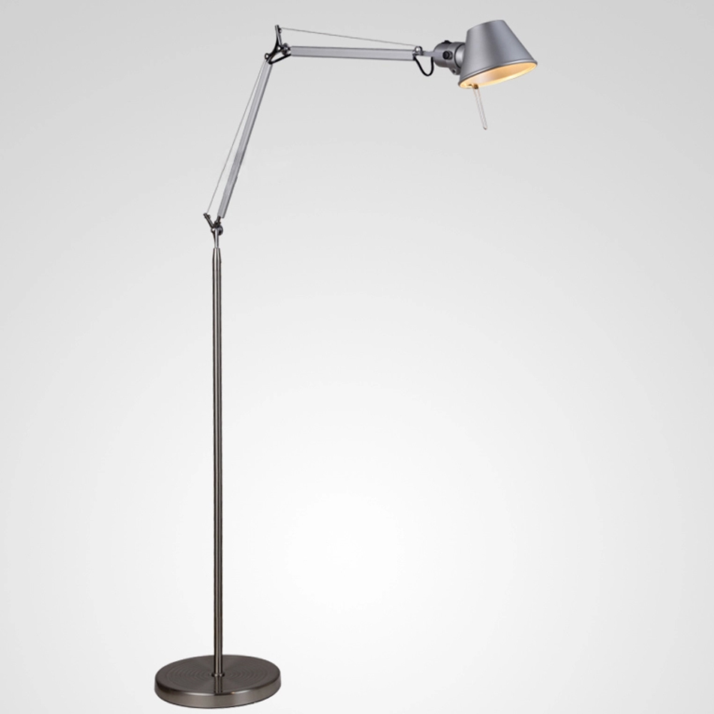 Minimalistic floor lamp 1 5m aluminum hat shape office lighting standing lamp e27 expansible foyer study cafe decoration lights in floor lamps from lights