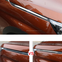 New Arrival Accessories Stainless Steel Side Air Vent Hood Intake Fender Cover Trim Decoration 2pcs For