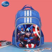 Disney 2019 Captain America Schoolbag Pu Leather Waterproof Fashion Backpack Girl Child Bag School Backpack Classic Backpack(China)