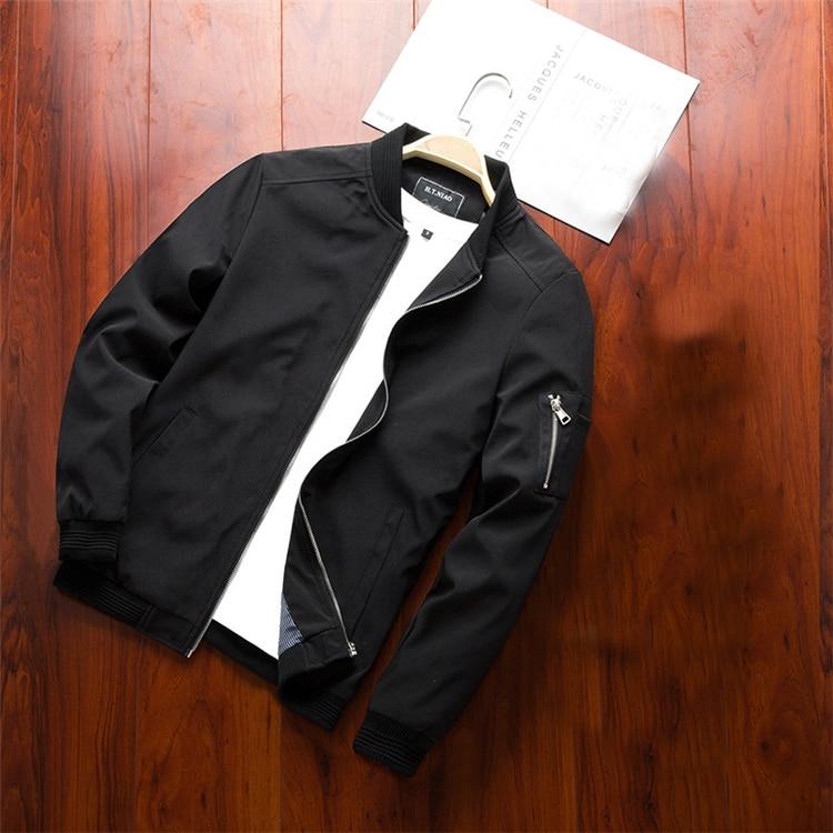 Men's Bomber Zipper Casual Streetwear Hip Hop Slim Fit Pilot Coat Men 19