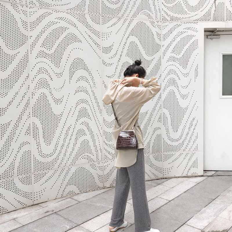 รูปแบบจระเข้ VINTAGE Messenger ผู้หญิงจระเข้ไหล่ Crossbody กระเป๋าออกแบบ Croc PU หนังผู้หญิงกระเป๋า FLAP CH