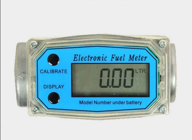 "1.5/"" 1.5 Inch Digital Electronic Diesel Fuel Flow Meter Gauge 300PSI BSPT//NPT"