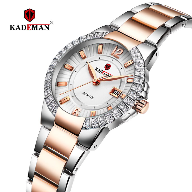 KADEMAN Ladies Wrist Watches Luxury Women Dress Watch Bracelet Crystal Fashion 3TAM Full Steel TOP Brand Female Wristwatch 826-in Women's Watches from Watches    1