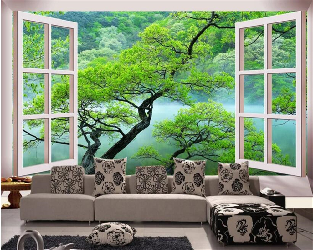 beibehang custom interior decoration 3d wallpaper space expansion