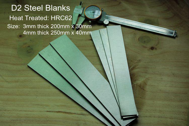 Sweden D2  Knife Making Steel Blanks HRC62 Knife DIY Blade Steel Bar Blanks (XW-42)