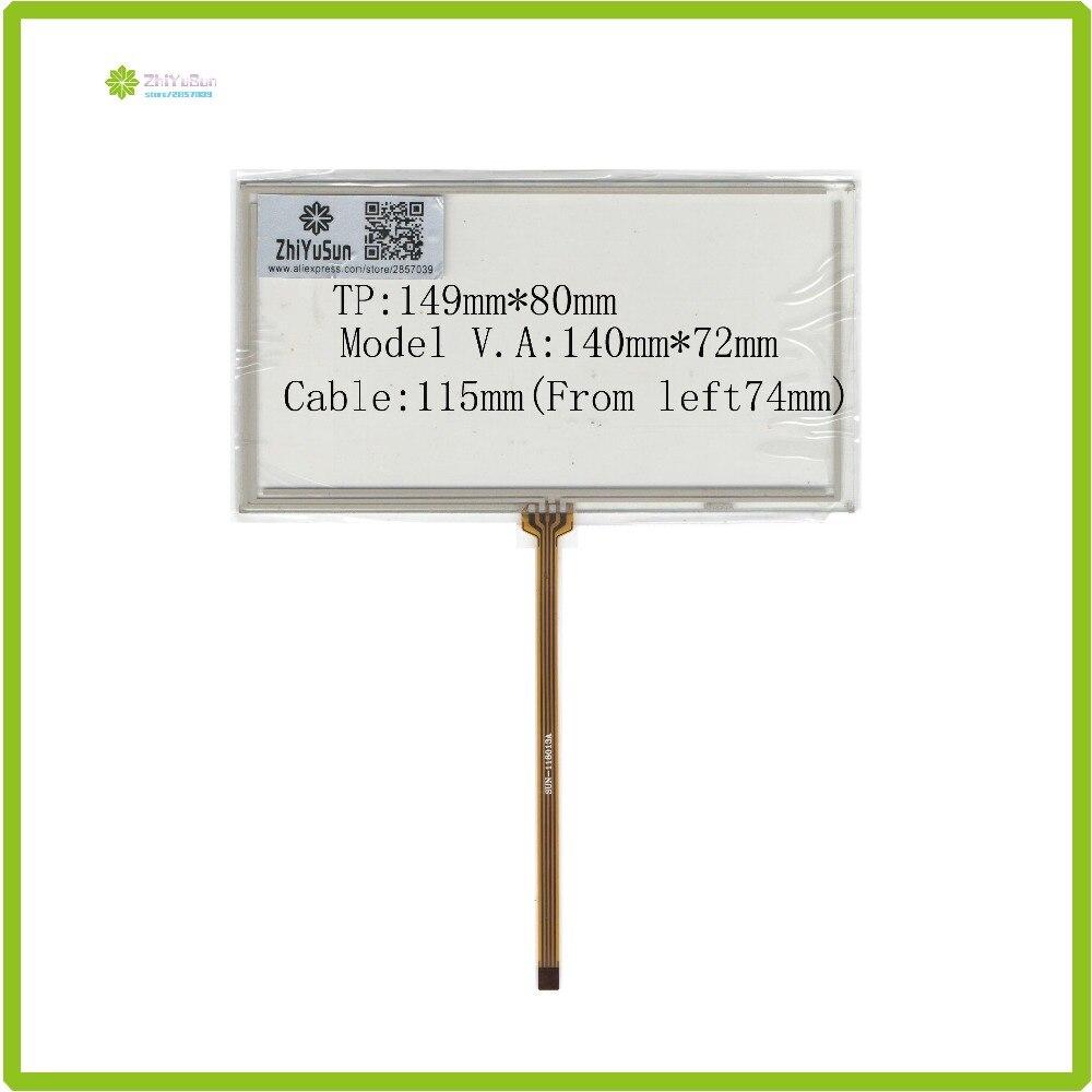 ZhiYuSun  149mm*80mm 6inch 4 Lins Touch Screen Glass Touchsensor 149*80touchglass Digitizer GLASS Good Quality Assur M6230