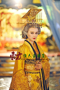 Image 3 - Yellow Golden Gorgeous Embroidery Female Emperor Dragon Robe Costume Hanfu for TV Play Legend of Tang Empress Wu Meiniang