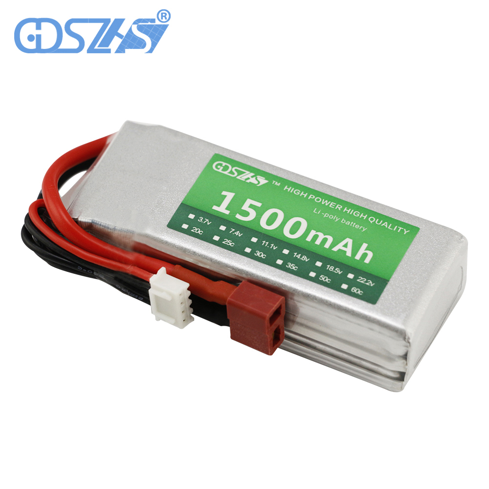 GDSZHS 3S 11.1V Lipo Battery1500MAH 35C Remote Control Aircraft Battery Lithium Polymer Battery for FPV RC Helicopter wholesale polymer lithium battery 15c high rate hm 703048 800mah 7 4v remote aerial aircraft batteries