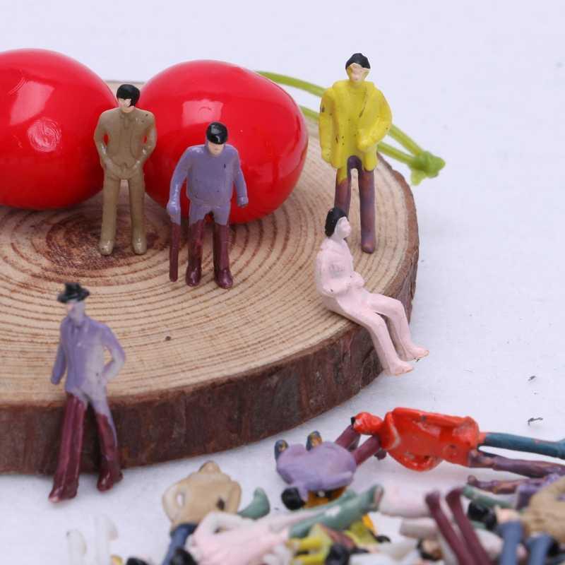 Popular 1: 75 100X Construção de Modelo de Layout de Passageiros Escala HO Pintado Pessoas Figura
