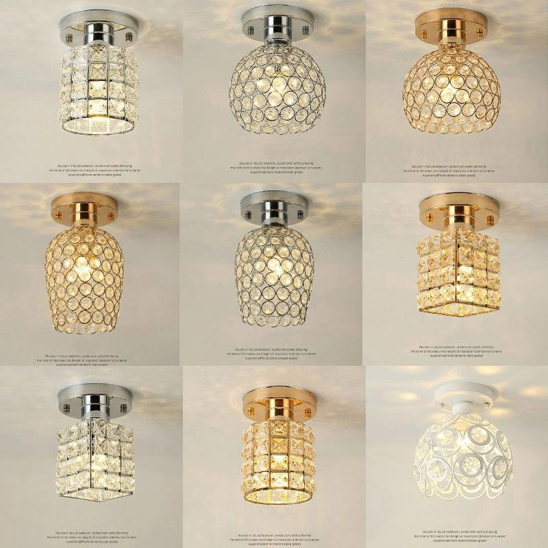 Modern Led Ceiling Lamps Crystal Living Room Foyer Light Home Lights Lustre Fixtures Restaurant Luminarias Luxury Ceiling Light z best price european luxury golden round crystal chandeliers light home foyer lamps hotel restaurant clubs bedroom droplights