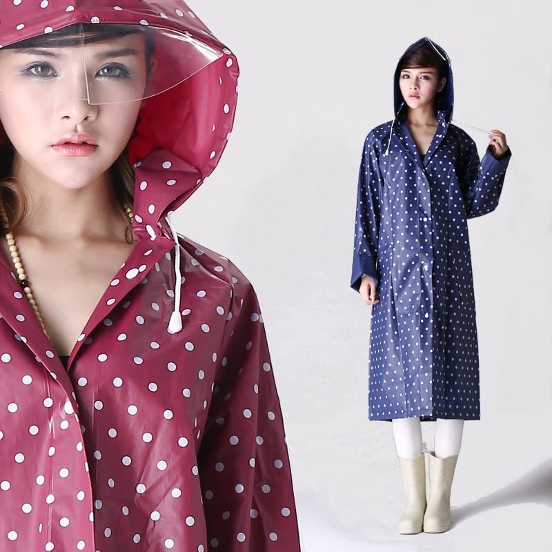 Women Men Raincoat Poncho Hooded EVA Cagoul Waterproof Jacket