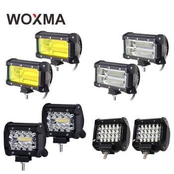 4 светодио дный 4 светодиодные панели 12 В в свет работы Вт 60 Вт автомобиля туман лампы мотоцикл Offroad 72 Вт Наводнение лодка 6000 К к белый желтый к...