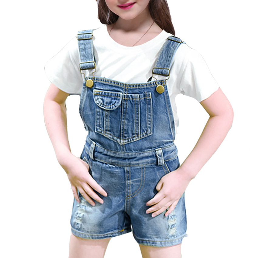 Girls Sets for Kids Clothes Fashion Casual Denim Suits Summer Baby T-shirt + Denim Bib Pants/Jeans Vestidos 6 8 10 12 14 Years girls dress for baby kids clothes new summer fashion casual denim dresses cotton sleeveless party clothe vestidos 6 8 9 10 years