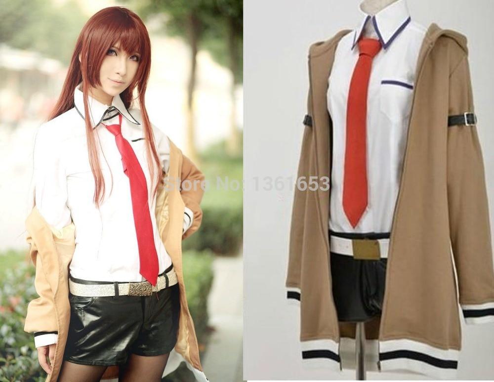 SteinsGate cosplay Kurisu Makise costume Janpenese anime cosplay daily uniform cos set  clothes+socks+tie set