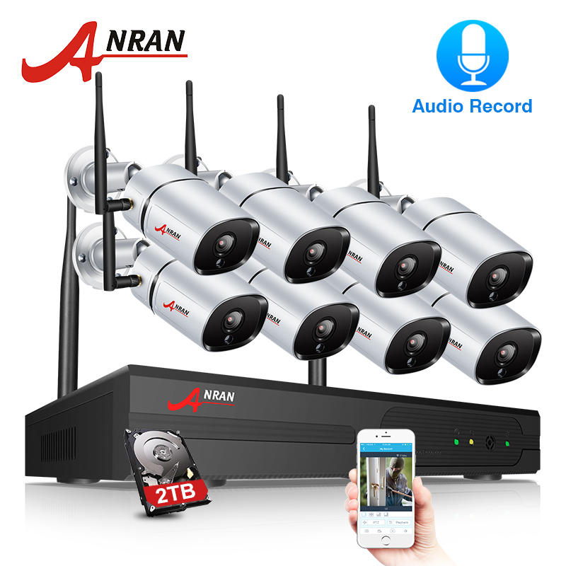 ANRAN 2MP Security Camera System Wireless 8Channel NVR Kit Wireless Home Security Camera System 1080P Indoors&Outdoors IP CameraANRAN 2MP Security Camera System Wireless 8Channel NVR Kit Wireless Home Security Camera System 1080P Indoors&Outdoors IP Camera