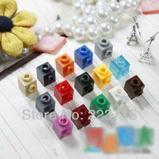 Free Shipping!87087 100pcs *Brick 1x1w. 1 Knob*  DIY Enlighten Block Bricks,Compatible With Assembles Particles