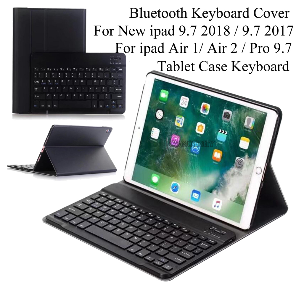 Detachable Wireless Bluetooth Keyboard for iPad 9.7 2018 6th Gen 2017/ Air /Air 2 Keyboard Case,Slim Shell Stand Cover Magnetic