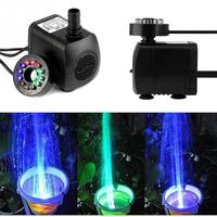 Mini Electric Submersible Water Pump Color RGB With 12 LED Fountain Garden Pond Fish Tank Fountain