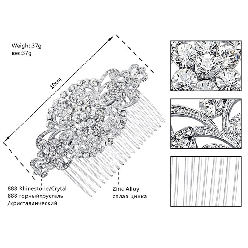Minmin Floral Кристалды шашты үйлену тойына - Сәндік зергерлік бұйымдар - фото 2