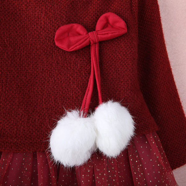 Otoño invierno 2017 niñas bebés vestido de manga larga bola de - Ropa de bebé - foto 2