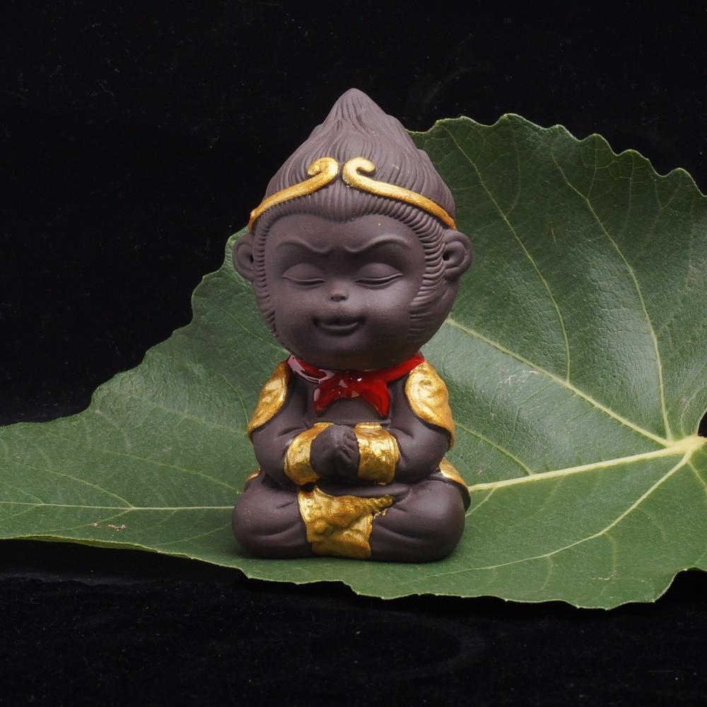 Buddha Statue Head Buddhist Articles India Little Monk Ceramic Crafts Tea Pet Home Wine Office Bedroom Decor