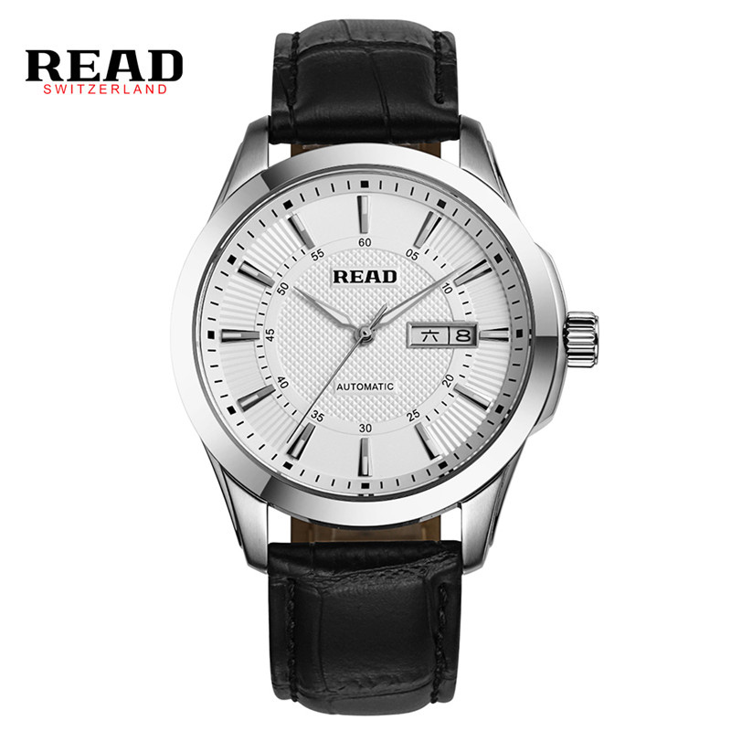 READ Watches Men 2017 Luxury Leather Quartz Watch Ladies Fashion Casual Horloges Mannen Date Clock Relogio Kol Saatleri D04 orkina montres 2016 new clock men quarz watch uhr uhr cool horloges mannen gift box wrist watches for men