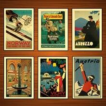 Pósteres Retro de viajes por el mundo Colorado Rock Island Line, pegatinas de pared clásicas, lienzo, póster vintage de pintura, decoración de Bar para el hogar, regalo