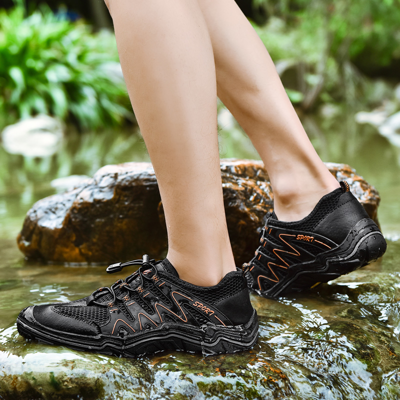 Big Size Men Women Outdoor Hiking Sandals Men Outdoor Sneakers Breathable Hiking Shoes Men Trekking Trail Water Sandals Air Mesh in Hiking Shoes from Sports Entertainment