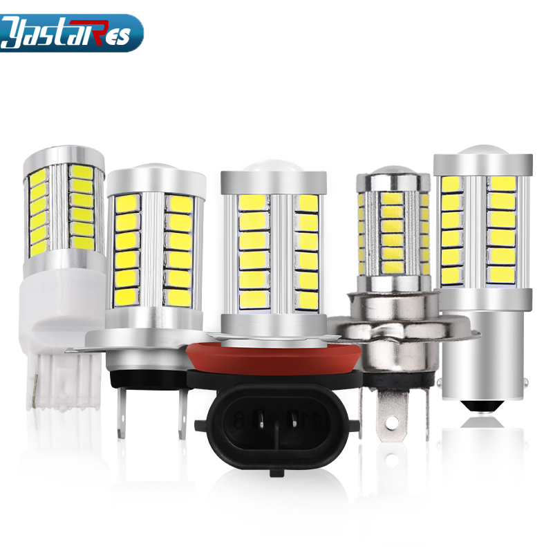 1X Car Led H8 H11 9006 H4 H7 1156 1157 T20 7440 7443 5630 33SMD Fog Lamp Light Bulb Turning Parking Bulb 12V