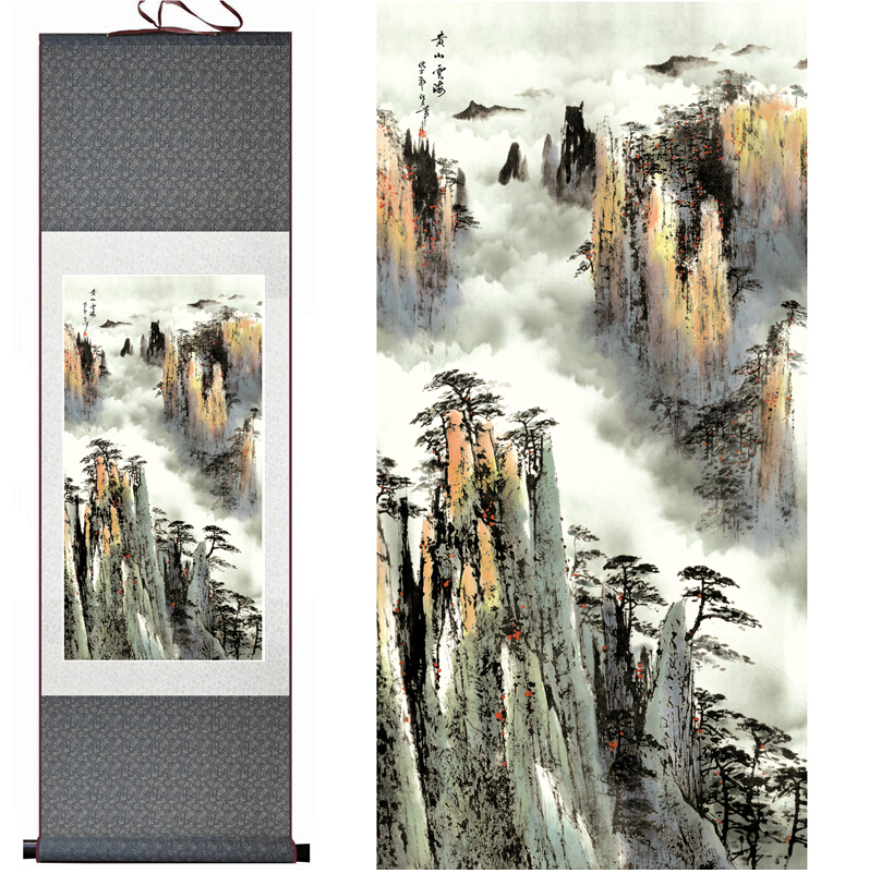 Mountain and River painting landscape art painting home decoration painting Ink wash paintingPrinted painting