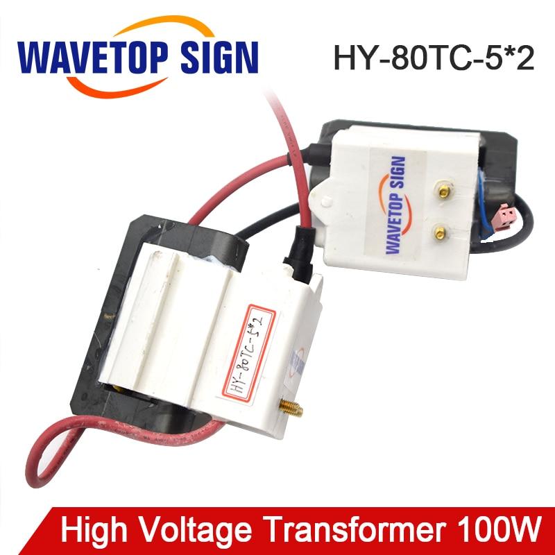 Transformateur Flyback haute tension HY-80TC-5*2 100 W utilisation pour alimentation Laser 100 W