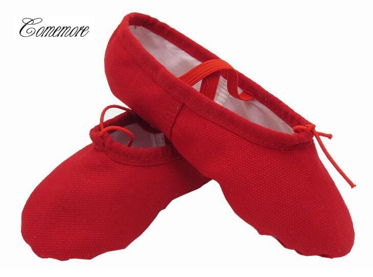 Women Ballet Slippers Red Soft Ballet