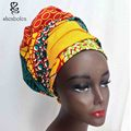 Kente head wrap African head wrap headwrap kerchief ankara dashiki wax batik printing pure cotton tow size 44*34 and 64*13 inch