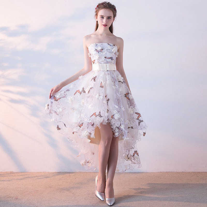 formal floral short dress