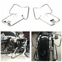 Saddlebag Bracket Guard W/ Support Bar For Harley Touring CVO Ultra Classic Electra Glide Road King FLHT FLHR 97 08