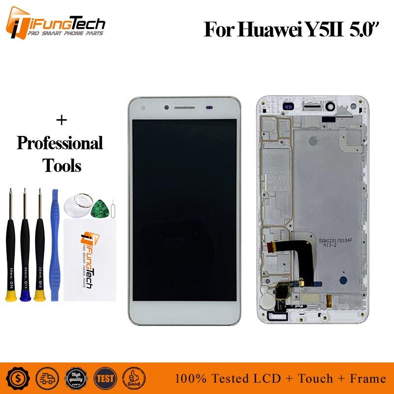 100% testé tout nouveau LCD pour Huawei Y5 II écran LCD + écran tactile numériseur panneau de remplacement pour Huawei Y5 2 Y5II écran LCD