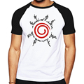 Fashion shirts logo designed men clothes NARUTO sign pattern man t shirt good quality brand male reglan T-shirt